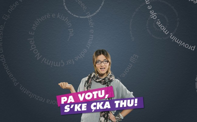 Voting girl campaign